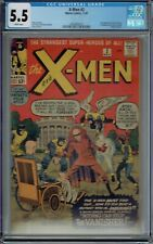 CGC 5.5 X-MEN #2 WHITE PAGES VANISHER 1ST APPEARANCE 2ND XMEN APPEAR. 1963 KIRBY