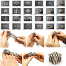 Silver 3mm 216pcs Magnet Balls Magic Beads 3D Puzzle Ball Sphere Magnetic Cube