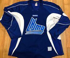 Reebok QMJHL Official Worn Practice Jersey Blue Size 56 #5 Used By PEI Rocket