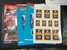 1991 World Jamboree Paper and Stick on Sheet Lot       tf
