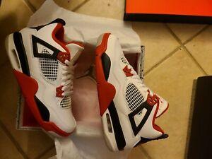 New Jordan 4 Retro Fire Red GS Size 6.5y 408452-160