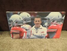 Urban Meyer signed autographed canvas meyer hologram National Champions Buckeyes