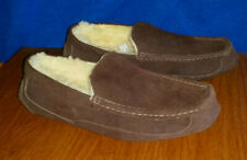 MEN 10 GENUINE SHEEPSKIN Suede Leather DRIVING MOCCASINS Slippers WORN 1X Fit 8+