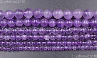 Natural Lavender Amethyst Gemstone Round Loose Beads 4mm 6mm 7mm 8mm 10mm 15.5""
