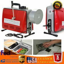 Electric Power Machine Auger Cable Drain Cleaner Snake Pipe Sewer 110v 500w