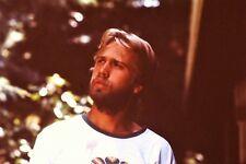 Handsome Young Man Beard Vintage 1980's 35mm Slide B32