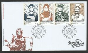 MALAYSIA 2021 FIGHT VIRUS 19 FRONTLINERS HERO FIRST DAY COVER WITH STRIP 4 STAMP