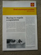 "FORD SHELL MOTOR SPORT PROFILE "" Book""  jm"