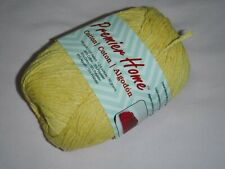 """New listing 2 Skeins, """"Premier Home"""", Yellow, Knitting/Crocheting, Cotton/Poly Yarn"""