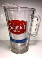 """Large 8"""" Vintage Schmidt Beer Pitcher -48 Oz."""