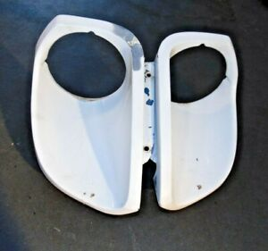 1979-83 Datsun 280ZX Front Headlight Bucket Extensions-Matched Pair Need Work-S3