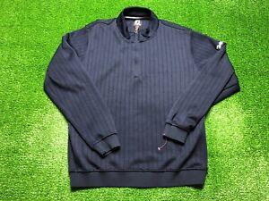 FJ Footjoy Golf Men's 1/4 Zip Up Jacket Size L Large Blue