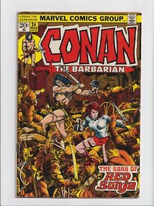 Conan the Barbarian #24 1st Full Appearance Red Sonja Marvel Comics 1973 VG/FN