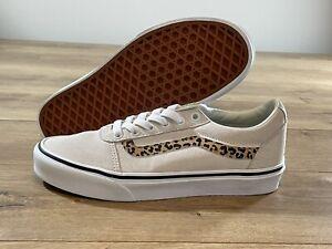 Vans WM Ward Shoes (Cheetah Stripe) Marshmallow/White WM SZ 7 ( VN0A5HYOA3N )