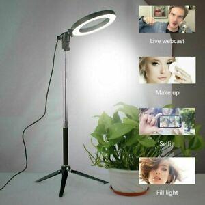 6'' LED Ring Licht Ringleuchte Fotolicht Studiolicht Lampe für Selfie Live DHL