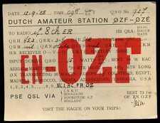 CARD  CARTE  QSL  radio amateur   PAYS BAS    1928  ( 79 )