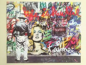 "MR. BRAINWASH "" LIFE IS BEAUTIFUL "" AUTHENTIC LITHOGRAPH PRINT POP ART POSTER"