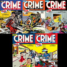 CRIME DOES NOT PAY! *5-BOOK HARDCOVER BUNDLE* (Dark Horse Archive Editions)