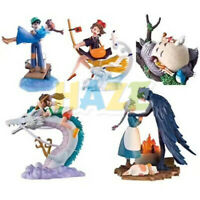 5pcs/set Hayao Miyazaki Totoro Kiki's Delivery Service Spirited Away Figure Toy