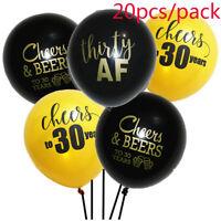 5/10/20Pcs Cheers to 30 Years Balloon Happy Birthday Anniversary Party Decor.