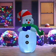 HOMCOM Inflatable Christmas Snowman 120cm Decoration LED Lights