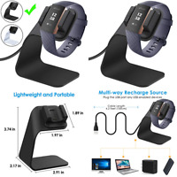 Compatible Fitbit Charge 3/Charge 3 SE Charger Dock Replacement Charging C Black