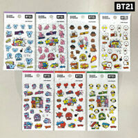 BTS BT21 Official Authentic Goods Clear Sticker Ver2 7SET + Tracking