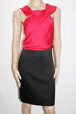 BCBG MAXAZRIA Brand Black New Red Two Fer Dress Size 10 BNWT #SS95