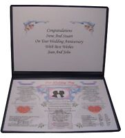 PERSONALISED WEDDING DAY ANNIVERSARY GIFT 30TH PEARL Married 1988