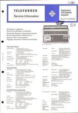 Telefunken Original Service Manual für  Bajazzo CR 6000  digital