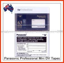 2 x Panasonic AY-DVM63PQ MiniDV Cassette Professional Mini DV Tape 2 Pack