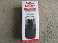 CE Continental Electric Coffee Grinder 120 W Motor Stainless Steel Blade & Bowl