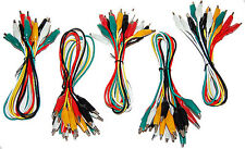 50 Lot Alligator Insulated Test Jumper Set Cables -5 lot of 10 Soldered