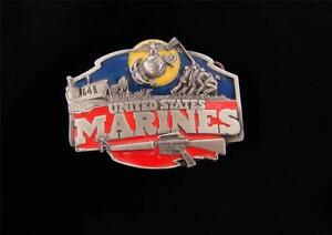 THE MARINES THE FEW THE PROUD THE BRAVE! I-50 SISKIYOU BUCKLE CO. 1987 VINTAGE