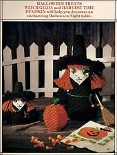 Halloween Witch & Harvest Pumpkin Patterns in Book Macrame Merry Makers Holidays