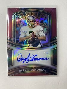 2020 Panini Select Daryle Lamonica Red Prizm Auto Raiders /60