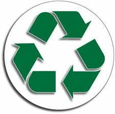 """RECYCLE 4"""" Green Plastic/Cans/Bottles/Recycling/Paper Vinyl Decal 3M Sticker"""