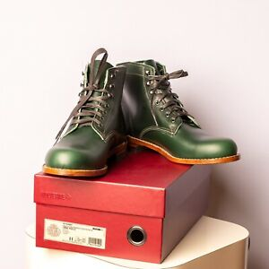 WOLVERINE 1000 MILE W990085 Green Leather Boots 11 D Men's Rare USA NIB
