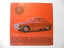 Brochure / publicité SAAB Monte - Carlo 850