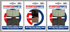 Moto-Guzzi V11 1100 Sport 97-00 Front & Rear Brake Pads Full Set (3 Pairs)