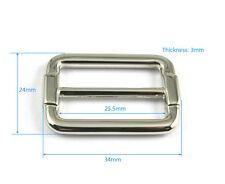 """25 Pcs 25.4mm (1"""") Metal Rectangle Tri-Glide Slider Adjustable Buckle for Bag"""
