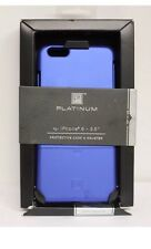 Platinum - Protective Case and Holster for Apple iPhone 6 Plus - Blue