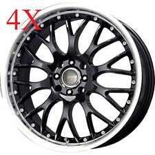 Drag Wheels DR-19 15x7 4x100 4x114 Black Rims For Integra Lancer Corolla Cube