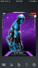 "Topps Star Wars Digital Card Trader FA Preview PZ-4CO ""Peazy"" Base Variant"
