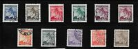 Complete Stamp set / Third Reich / Linden Leaves / Germany Occupation WWII