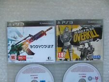 PS3 Promo Juegos, la casa de los muertos Overkill Corte extendido, Killzone 3, Bodycount