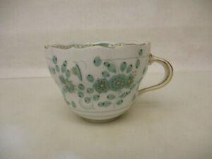 x-18024Meissen indisch grün Kaffeetasse 1.Wahl mit Chip am oberen Rand