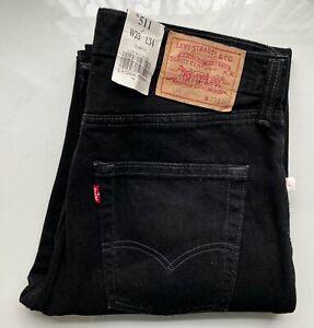 *NEW* LEVI's Original Jeans 511 Slim Fit, 511.02.85 W33, L34 schwarz 100% Cotton