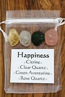 Happiness Crystal Gift Set Citrine Quartz Green Aventurine Rose Quartz Optimism