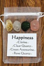 Happiness Crystal Gift Set Citrine Quartz Green Aventurine Rose Quartz Optimism